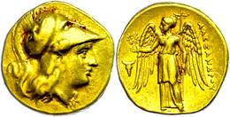 Stater (8,58g), Ca. 334-323 V. Chr., Sardes. Av: Athenakopf Mit Korinthischem Helm Nach Rechts. Rev: Stehende Nike Nach  - Non Classificati