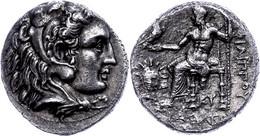 Tetradrachme (16,37g), 325-315 V. Chr., Philipp III. Arrhidaios, Babylon. Av: Herakleskopf Mit Löwenfell Nach Rechts. Re - Non Classificati