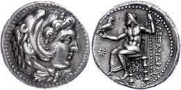 Tetradrachme (17,18g), 325-323 V. Chr., Alexander III., Babylon. Av: Herakleskopf Mit Löwenfell Nach Rechts. Rev: Throne - Non Classificati
