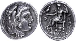 Tetradrachme (17,11g), 323-300 V. Chr., Philipp III. Arrhidaios, Marathus. Av: Herakleskopf Mit Löwenfell Nach Rechts. R - Non Classificati