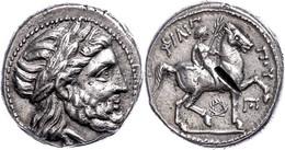 Tetradrachme (14,38g), Ca. 323-315, Posthum, Philipp II., Amphipolis. Av: Zeuskopf Nach Rechts. Rev: Jüngling Mit Palmzw - Non Classificati