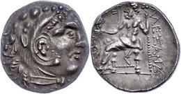 Drachme (4,07g), 336-323 V. Chr., Alexander III., Posthum. Av: Herakleskopf Mit Löwenfell Nach Rechts. Rev: Thronender Z - Non Classificati
