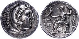 Tetradrachme (17,18g), 294-290 V. Chr., Alexander III., Posthum, Amphipolis. Herakleskopf Mit Löwenfell Nach Rechts. Rev - Non Classificati