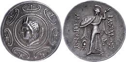 Tetradrachme (17,05g), 277-239 V. Chr., Antigonos II. Gonatas, Pella. Av: Makedonischer Schild, Im Zentrum Pankopf Nach  - Non Classificati