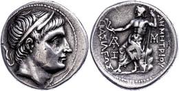 Tetradrachme (16,84g), Ca. 292-291 V. Chr., Demetrios I. Poliorketes., Amphipolis. Av: Kopf Nach Rechts. Rev: Sitzender  - Non Classificati