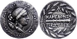 Tetradrachme (16,61g), 158-146 V. Chr., Amphipolis. Av: Kopf Der Artemis Auf Makedonischem Schild Nach Rechts. Rev: Keul - Non Classificati