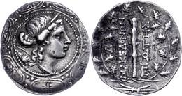 Tetradrachme (16,91g), 158-146 V. Chr., Amphipolis. Av: Kopf Der Artemis Auf Makedonischem Schild Nach Rechts. Rev: Keul - Non Classificati