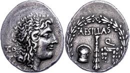 Aesillas, Quaestor., Tetradrachme (16,19g), Ca. 1. Jh. V. Chr. Av: Kopf Alexanders Des Großen Nach Rechts. Rev: Keule Zw - Non Classificati