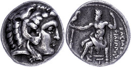 Tetradrachme (16,89g), 323-317 V. Chr., Philipp III. Arrhidaios, Salamis. Av: Herakleskopf Mit Löwenfell Nach Rechts. Re - Non Classificati