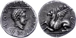 Abdera, Tetrobol (2,28g), Ca. 4. Jhdt. V. Chr. Av: Greif Nach Links. Rev: Apollonkopf Im Linienquadrat Nach Rechts, Daru - Non Classificati
