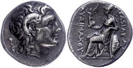 Drachme (4,00g), Lysimachos, 323-281 V. Chr. Av: Alexanderkopf Mit Diadem Und Ammonshorn Nach Rechts. Rev: Sitzende Athe - Non Classificati