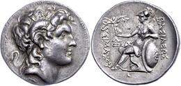 Tetradrachme (17,03g), 297-282 V. Chr., Lampsakos. Av: Alexanderkopf Mit Diadem Und Ammonshorn Nach Rechts. Rev: Sitzend - Non Classificati