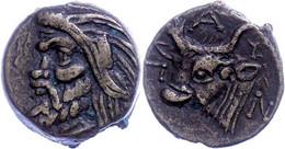 Pantikapaion, Æ (3,84g), Ca. 400-300 V. Chr. Av: Pankopf Nach Links. Rev: Stierkopf Nach Links. Ss. - Non Classificati
