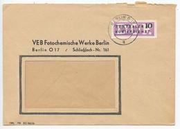 Germany, East DDR 1956 Official Cover Berlin - VEB Fotochemische Werke, Scott O33 - Covers & Documents