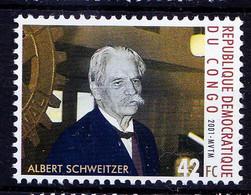 Congo 2001 MNH, Millennium, Schweitzer, Nobel Peace, Medical Missionary - Albert Schweitzer