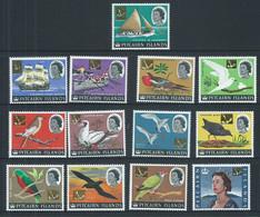 Pitcairn Islands 1967 Decimal Surcharges On 1964 QEII Bird & Ship Definitive Set 13 MNH - Pitcairn Islands