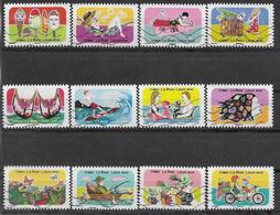 2020 FRANCE Adhesif 1873-84 Oblitérés, Vacances, Série Complète - Adhesive Stamps