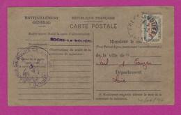 CARTE RAVITAILLEMENT LA ROCHE LA MOLIERE LOIRET 1946 - 2. Weltkrieg 1939-1945
