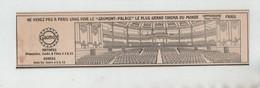 Gaumont Palace Plus Grand Cinéma Du Monde Paris - Pubblicitari