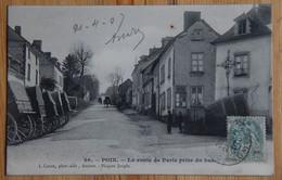 80 : Poix - La Route De Paris Prise Du Bas - Animée : Petite Animation - Attelages - (n°18918) - Poix-de-Picardie