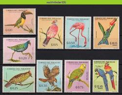 Mwe2760 FAUNA VOGELS HUMMINGBIRD PARROT EAGLE FLAMINGO BIRDS VÖGEL AVES OISEAUX PARAGUAY 1969 ONG/MH - Collections, Lots & Séries
