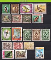 Mwe2764 FAUNA VOGELS ** SMALL ASSORTMENT ** BIRDS VÖGEL AVES OISEAUX PARAGUAY PERU GUYANA Gebr/used - Collections, Lots & Séries