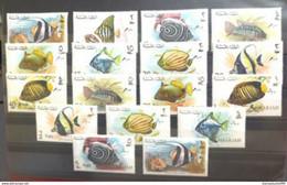UAE , Sharjah, Emirates , Fish Surcharged Black Set , Complete , MNH ** - Sharjah