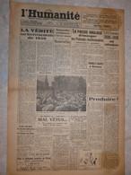 Journal L'humanité 31 Mai 1945 Usines Gnome Et Rhone événements De 1939 Mémorial Day Presse Anglaise Réactionnaires - Andere