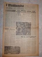 Journal L'humanité 30 Mai 1945 Il Faut Du Charbon Frenay Démission Dachau Gromyko Stettinius Arthur Dallidet - Andere