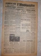 Journal L'humanité 1 Juin 1945 Remaniement Ministériel Renaissance Française Syrie Staline Von Busch Mines Nord - Andere