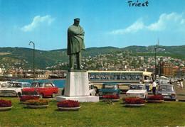 < Automobile Auto Voiture Car >> Opel Rekord P2, Renault 10, Bus Autobus, Trieste - Passenger Cars