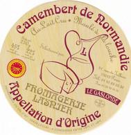 ETIQUETTE FROMAGE CAMEMBERT -  LASNJER  Affineur -   FAB EN NORMANDIE  FR 50.267.01 - Käse