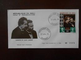 MALI FDC YT PA 100 AUGUSTE ET LOUIS LUMIERE - Mali (1959-...)