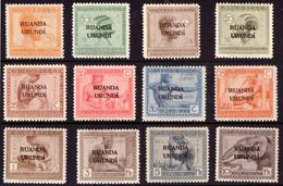Ruanda 0050/61* Vloors Surchargé  H - 1924-44: Mint/hinged