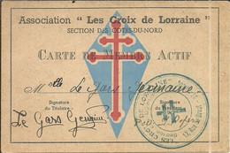 ( BRETAGNE)(22 COTES DU NORD)( MILITARIA  ) ( LES CROIX DE LORRAINE  ) - Oorlog 1939-45