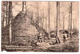 Negerdorf In Der Woevre Ebene Hütter Der Swarzen Franzosen Feldpost 2-10-16 - War 1914-18