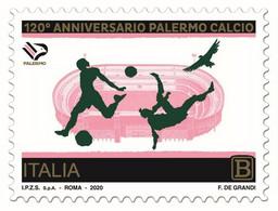 Italia • Italy (2020) Calcio/football: 120th Anniversary Palermo Calcio - Single Stamp (MNH) - Otros
