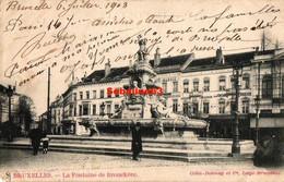 Bruxelles - La Fontaine De Brouckère - 1903 - Squares