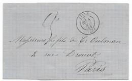 Département Du Nord / Rare Taxe 3 (ancien Modèle) à La Place 30 DT Lille 4 Mai 1869 - 1849-1876: Classic Period