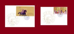2 FDC CEPT Ancient Postal Routes EUROPA EUROPE 2020 Azerbaijan Stamps Firs Day Cover - Azerbeidzjan
