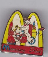 H151 Pin's Mac Donald's Mac Do Drive Montigny Le Roi ? Haute Marne TRI PORTEUR SCOOTER ?  Achat Immédiat - McDonald's