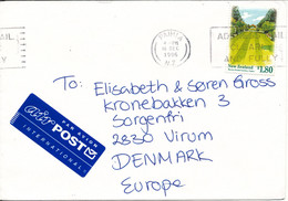New Zealand Cover Sent Air Mail To Denmark Paihia 16-12-1996 Single Franked - Covers & Documents