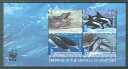 AUSTRALIA - MNH/*** LUXE - 2009 - WWF DOLPHINS - Yv BLOC 115 - Lot 22619 - Blocks & Sheetlets