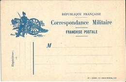 CORRESPONDANCE  MILITAIRE  /  Dessin :  Artilleur  Sabre  Canon - FM-Karten (Militärpost)