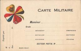 CARTE  MILITAIRE  Neuve  /  Tréfle  à  4  Feuilles  1914-15  4 Drapeaux - FM-Karten (Militärpost)