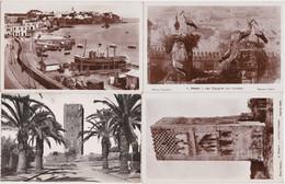 Ca - Lot De 8 Cpa/cpsm Maroc - RABAT - Cigognes, Tour Hassan, Oudaïas, Hôtel PTT, Rue Souïka, Palais De Justice, Avenue - Rabat