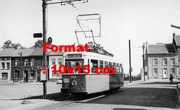 Reproduction D'une Photographie Ancienne D'un Tramway Ligne 68 à Ransart En Belgique En 1959 - Reproductions