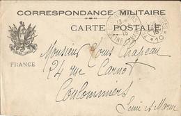 CORRESPONDANCE  MILITAIRE  /   Armure  Fusils à Baïonnette  /  Envoi En 1915 à  COULOMMIERS ( 77 ) / Trésor Et Postes 10 - FM-Karten (Militärpost)