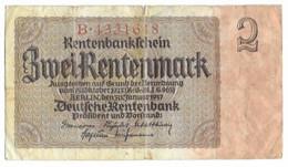 Billet De 2 Rentenmark  - époque Du NSDAP - Sonstige