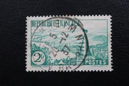 1935,Y&T NO 301 RIVIERE BRETONNE 2f  VERT CAD MARLENHEIM DU 20/12/1937 BAS-RHIN TB - Gebraucht